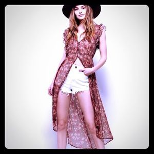 Free People Lady of Avalon floral duster 🌺